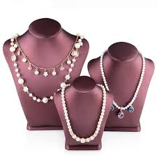 jewelry necklace holder stand images High grade pu leather pendant necklace holder jewelry display jpg
