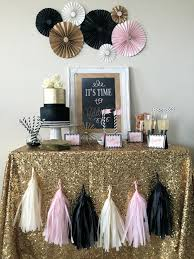 Pinterest Graduation Party Decorations by Gold Sparkly Black Blush Celebration Complete Party In Box