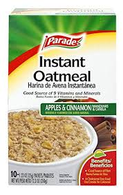 cuisine de a 0 z amazon com parade instant oatmeal apple and cinnamon 1 23 0z