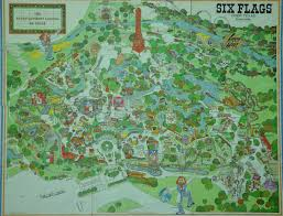 Dallas Fort Worth Area Map by 1970s Six Flags Over Texas Map This Is How The Park Looked When I