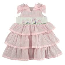 mud pie baby bunny smocked dress pink 6 9