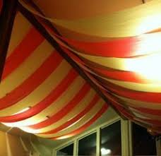 Creepy Carnival Decorations Diy Carnival Tent Made From Tablecloths Vintage Carnival