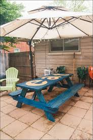 Plans For Building A Wood Picnic Table by Exteriors Blue Picnic Table Round Wooden Picnic Bench Picnic