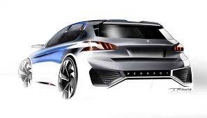 peugeot official website peugeot 308 r hybrid concept design sketch by thomas rohm car