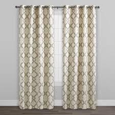 Lattice Design Curtains Charcoal Gray Lattice Cotton Curtains Set Of 2 V2 Curtains