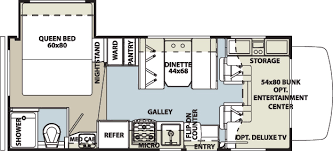 Rialta Motorhome Floor Plans Rentals In Maine Seacoast Rv