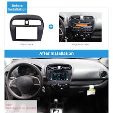 mitsubishi mirage hatchback modified excellent 2din 2012 mitsubishi mirage car radio fascia dvd player