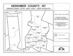 County Map New York by Radon New York State Department Of Health Wadsworth Center