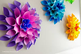 Make Your Own Paper Flowers - summer birthday party ideas for girls art and design