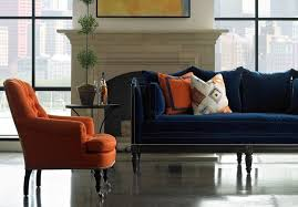 navy blue sofa living room contemporary with traditional side