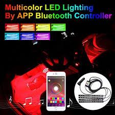 addmotor 4pcs rgb led car interior underdash lighting