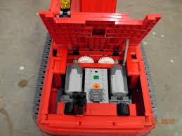 8043 excavator in red lego technic mindstorms u0026 model team