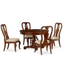 bordeaux 5 piece round dining room furniture set round pedestal