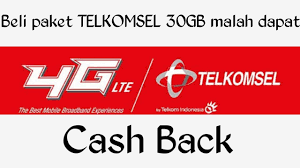 cek kuota telkomsel 30gb cara beli paket telkomsel 30gb cashback 20 000 youtube