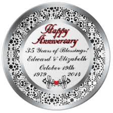 personalized anniversary plate 9th wedding anniversary plates zazzle