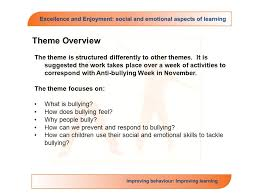 theme 3 say no to bullying suggested november or anytime ppt