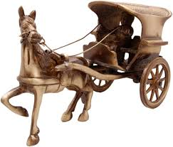 buy two moustaches brass horse cart big showpiece home decor