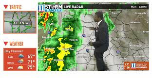 Weather Map Atlanta by Timeline Severe Weather Heading Towards Ga What To Expect