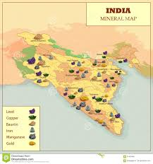 Map Of India by Different Mineral Map Of India Stock Vector Image 91454846