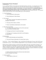 frankenstein theme analysis example doc
