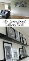 How To Decorate A Large Wall In Living Room by Creating A No Commitment Gallery Wall The Crazy Craft Lady