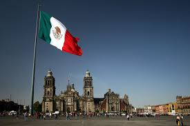 Flag Flown At Half Mast The Flag Of The United States Of Mexico