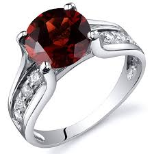 stone rings style images Garnet solitaire style ring sterling silver 2 50 jpg