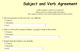 all worksheets subject verb agreement printable worksheets