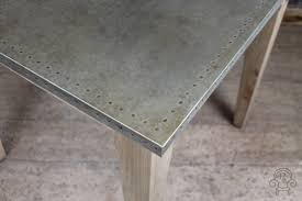 Zinc Top Bar Table Copper Top Restaurant Table Industrial Look Peppermill Interiors