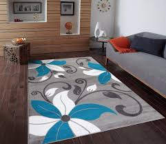 Brown And Turquoise Area Rugs Amazon Com T1014 Turquoise Gray White 5 U00272 X 7 U00272 Floral Oriental