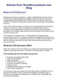 what is a cfo service