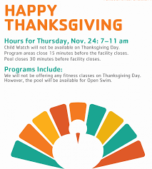 thanksgiving hours gateway region ymca