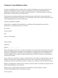 contract cancellation letter surety bond guarantee