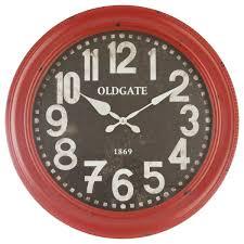 Horloge Cuisine Rouge by