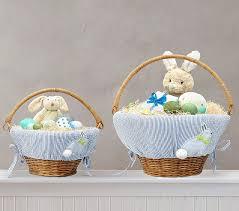 bunny easter basket blue seersucker applique bunny easter basket liner pottery barn kids