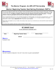 smart goal setting template forms fillable u0026 printable samples