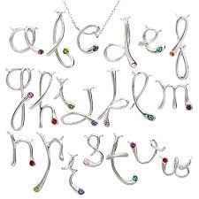 Custom Birthstone Necklaces Initial Necklace Pendant Eve U0027s Addiction