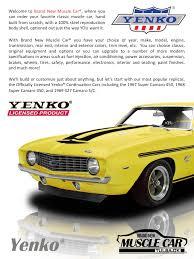 original yenko camaro for sale yenko brochure official licensed yenko replicas yenko camaro