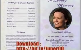 template funeral program funeral program templates entire captures brochure template