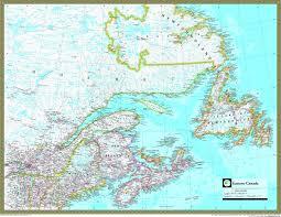 map of canada atlas eastern canada atlas wall map maps