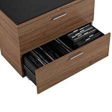 Walnut Filing Cabinet 2 Drawer by Sequel Lateral File Cabinet 6016 Bdi