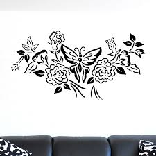 floral and butterfly design wall sticker world of wall stickers floral and butterfly design wall sticker decal a