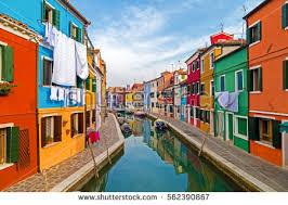 Burano Italy Colorful Houses Burano Venice Italy Stock Photo 582940846
