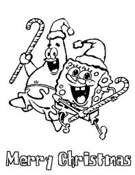 spongebob christmas coloring pages with regard to really encourage