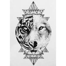 drawing tattoo design tiger on instagram