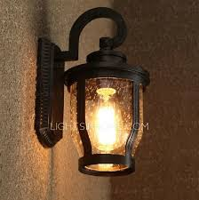 Outdoor Lighting Wall Sconce Classic Metal Fixture Bubble Glass Outdoor Lighting Wall Sconces