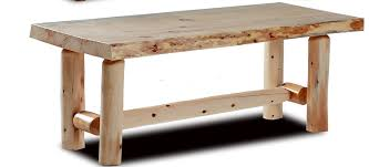 amazon com rustic log coffee table pine and cedar unfinished
