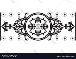 nouveau ornament royalty free vector image