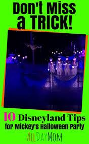 5 disneyland tips for mickey u0027s halloween party
