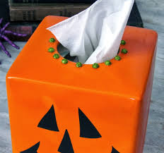 halloween tissue box cover makeover